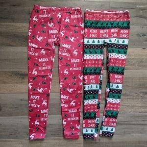 Christmas Leggings Set of 2 Size Small